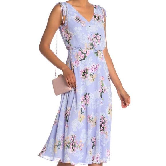 Eliza J Dresses & Skirts - Eliza J Sleeveless Blouson Floral Midi Dress NWT